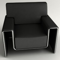 design leather armchair 3d model