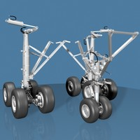 airline jet landing gear 3d model