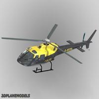 3d model eurocopter uk police 355