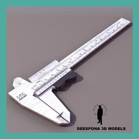 3ds max caliper caliber measuring ruler