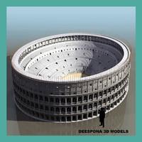 3d roman coliseum model