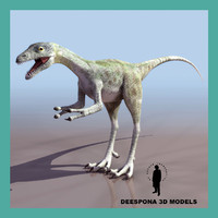 3d model compsognathus dinosaur