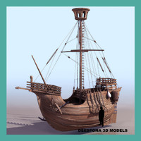 CATALAN SHIP XV century SAILBOAT MEDIEVAL