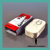 3d tin cans model
