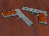 colt a1 pistol 3d ma