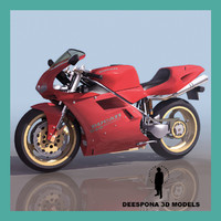 ducati 916 racing motorcycle 3d model