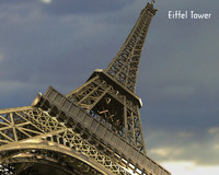 eiffel modelled 3d model