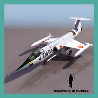 f104gs starfighter jet spanish 3d model