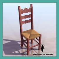 3d folk chair