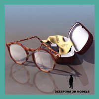 3d model of modern glasses