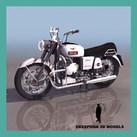 3d moto guzzi italian vintage