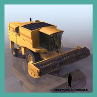 3d combine harvester grain model