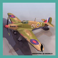 3d hawker hurricane mk1 british