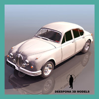 3d vintage luxury british car model