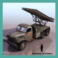 3d katyusha soviet russian rocket launcher