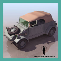 wwii german kubelwagen vehicle 3d max