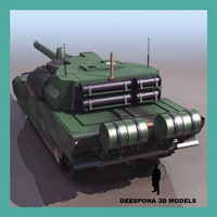 3d leclerc french heavy tank