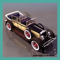 3d model of 1920 american luxury vintage car