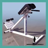 3ds max lumbar hyperextensions bench gymnastic