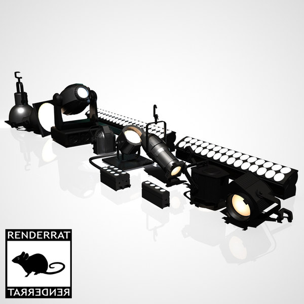 3d max stage lighting instruments - Stage Lighting Instruments... by RenderRat