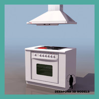 multicombi kitchen stove 3d model