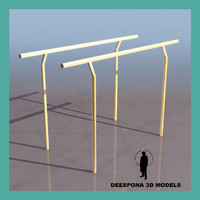 3ds max gymnastic parallel bars