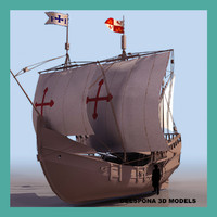 la pinta caravel spanish 3d model