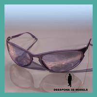 rayban street sport glasses 3d max