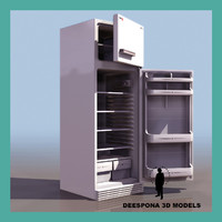 refrigerator electric cabinet 3d model
