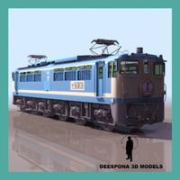 3dsmax sakura japanese blue train