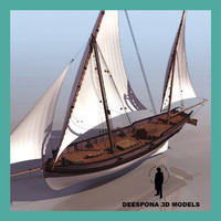3d sail dock ship san
