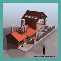 sawmill farm building 3d model
