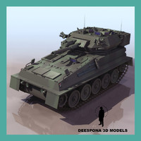 3d fv101 scorpion british light tank model