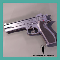 3d smith wesson 4504 gun