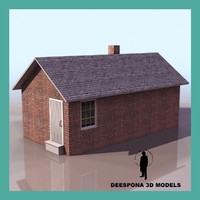 smoke house farm auxiliary 3d model