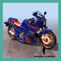 suzuki walter motorcycle 3d model