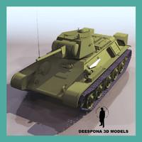 3d model t-34 soviet medium tank