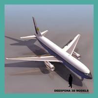 767 commercial jet 3d max
