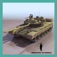 3d t-80 russian tank