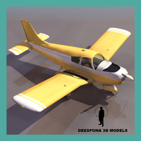 3d model piper cherokee airplane