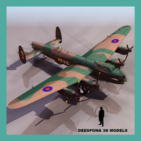 3d avro lancaster british heavy model