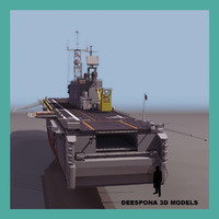 uss tarawa lha 1 3d model