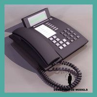 3d telephone black 90-s