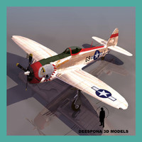 p-47 thunderbolt bubble canopy 3d model