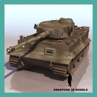 tiger german heavy tank 3d max