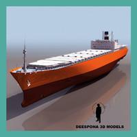 3d model of toyama cargo ship