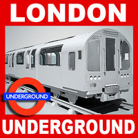 London Underground Train and Platform (No Textures)