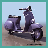 3ds max vespa motorcycle