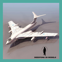 handley page victor british 3d model