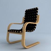3d chair alva aalto